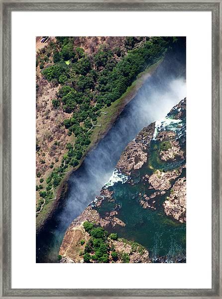 Zimbabwe, Victoria Falls Framed Print