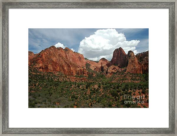 512p Zion Area Framed Print