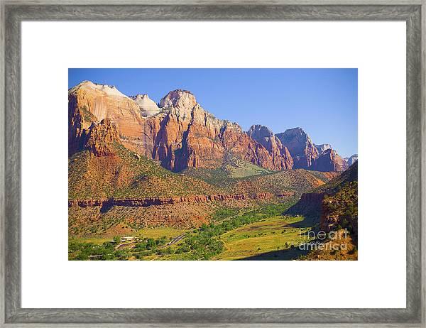 Zion Mountain Range Framed Print