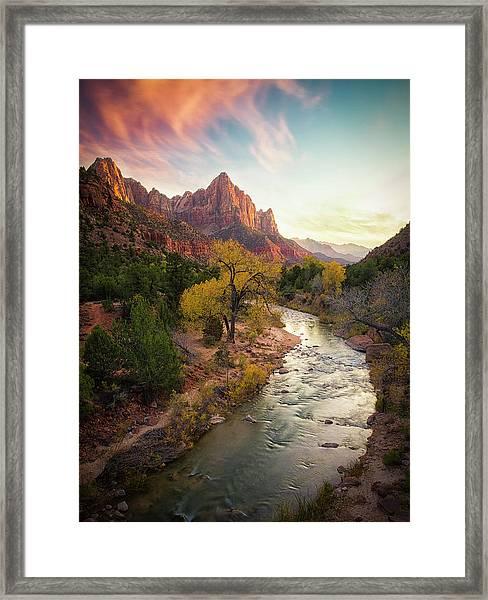Zion National Park Framed Print
