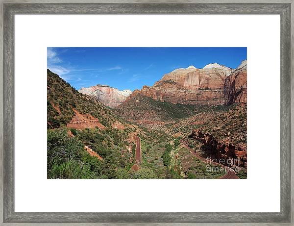 206p Zion National Park Framed Print