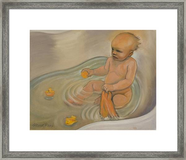 Zoe's Bath Framed Print