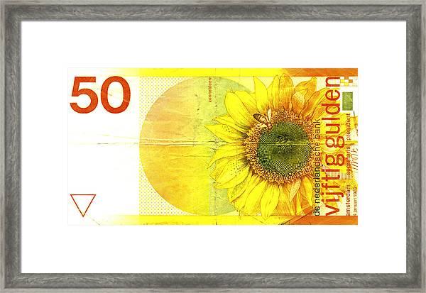Zonnebloem Framed Print