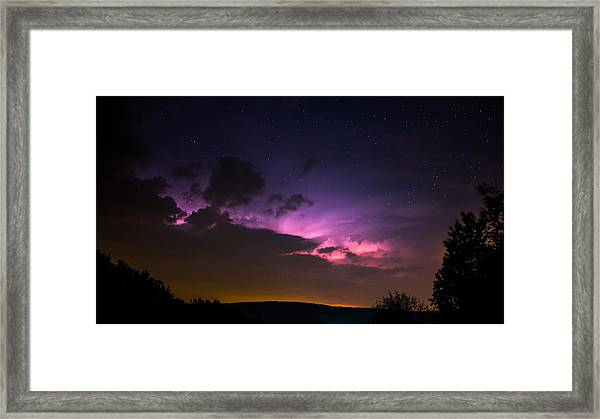 Zues At Play Under The Stars Framed Print