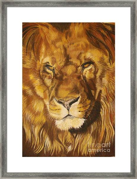 Zuri Framed Print by Ann Marie Chaffin