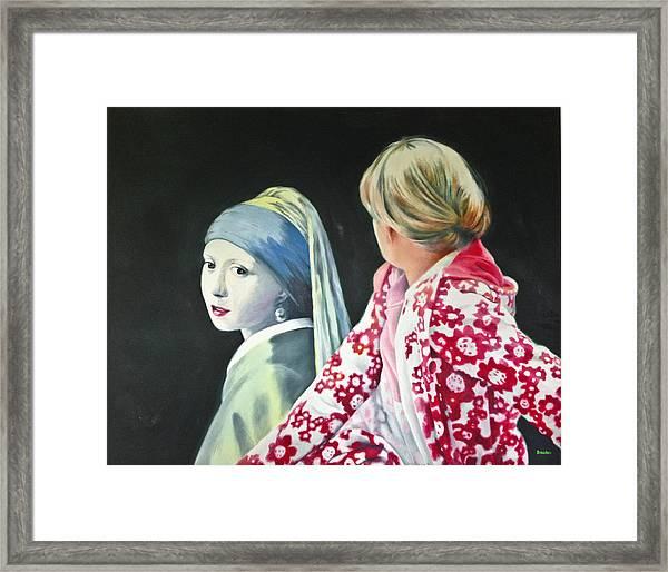 Three Studies Of Zwei Freundinnen I Framed Print