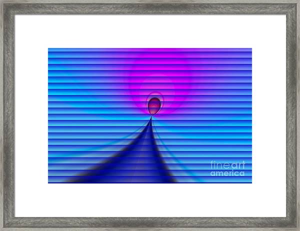Light Drop Framed Print