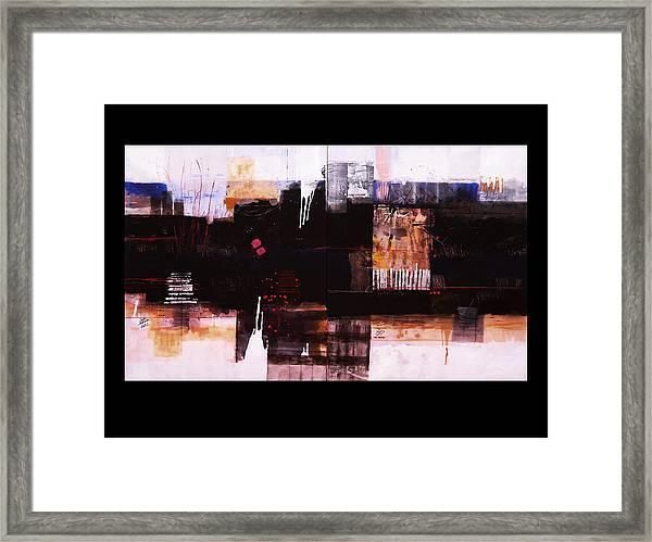 Diptyc Framed Print by Mohamed KHASSIF