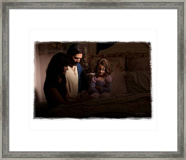 A Daughters Prayer Framed Print