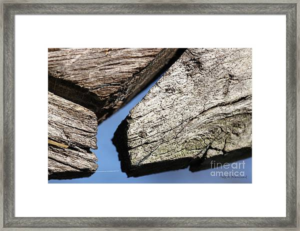 Abstract With Angles Framed Print