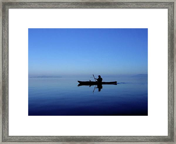 Serenity Surrounds Framed Print