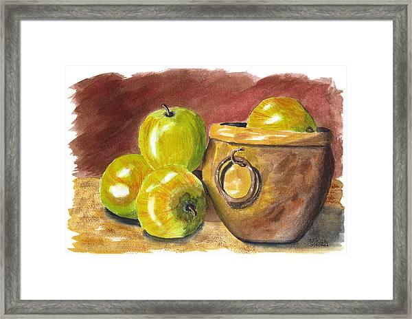 An Apple A Day Framed Print