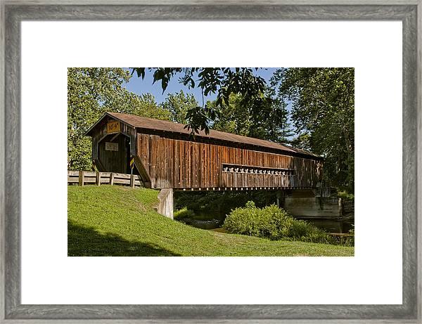 Benetka Road Covered Bridge Framed Print