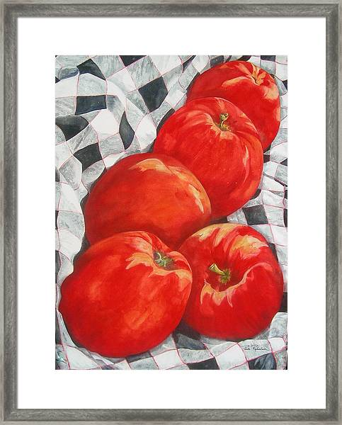 Big Reds Framed Print
