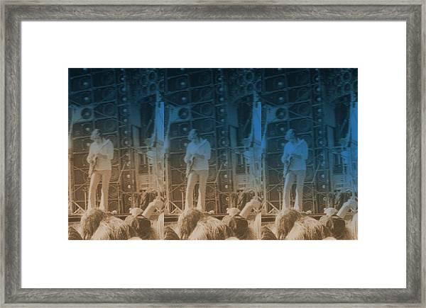 Bob Weir Grateful Dead 74 Dsm Ia Framed Print by Tim Donovan