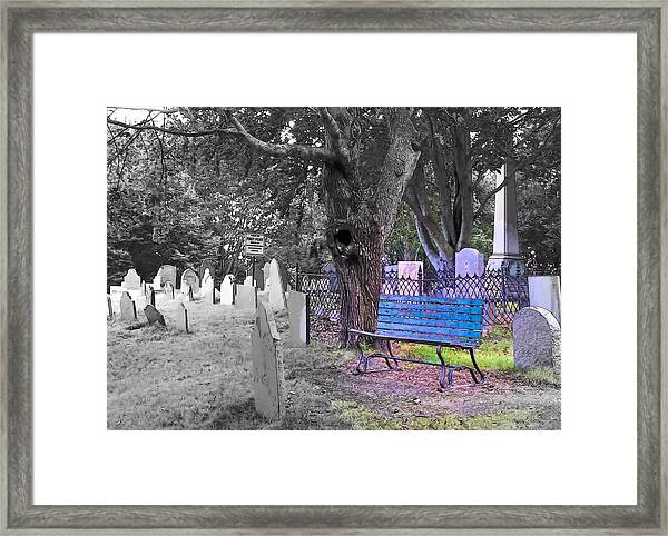 Burial Hill  Framed Print by Janice Drew