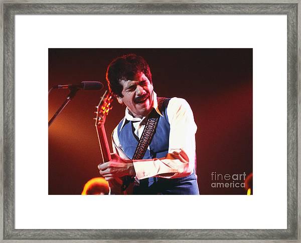 Carlos Santana Framed Print by Chris Walter