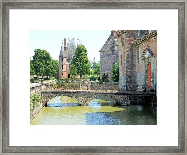 Chateu Carrouges Normandy France Framed Print