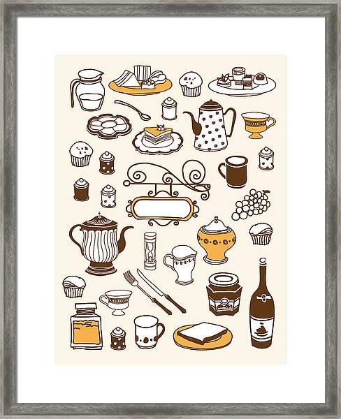 Close-up Of Food Stuff Framed Print by Eastnine Inc.
