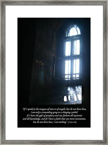 1 Cor 1 2 Framed Print