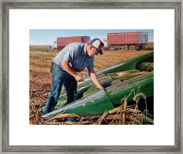 Corn Harvest Framed Print