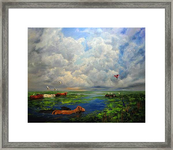 Cow Party Framed Print