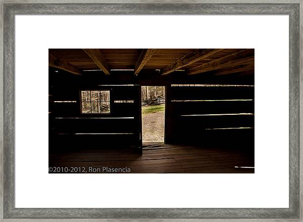 Doorway To The Past Framed Print by Ron Plasencia