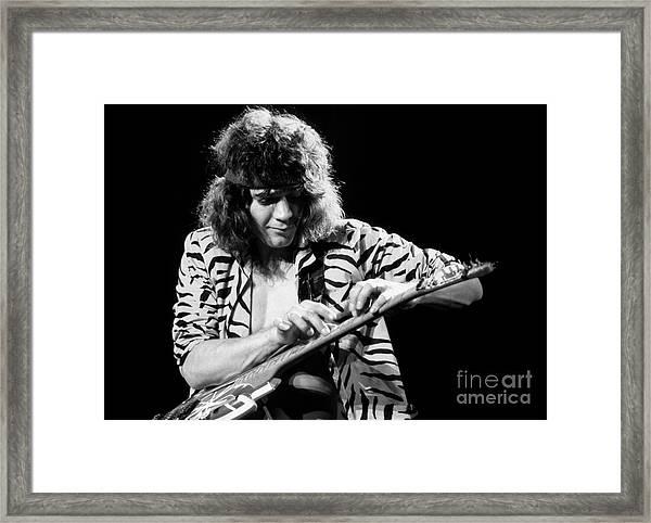 Eddie Van Halen 1984 Framed Print by Chris Walter