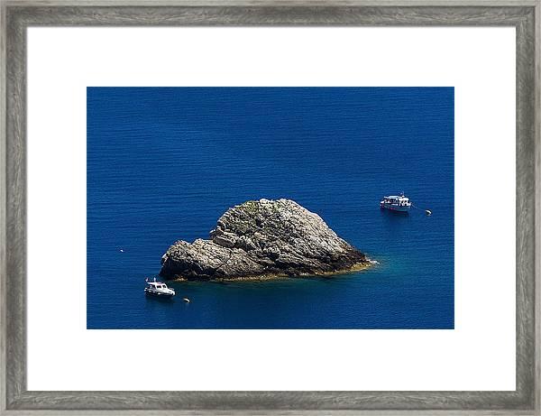 Elba Island - One Island Two Boats - Ph Enrico Pelos Framed Print