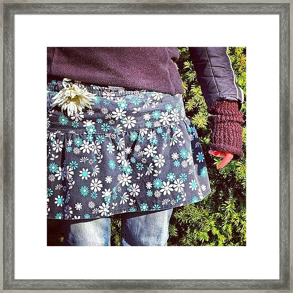 Fashion And Nature - Floral Skirt Framed Print
