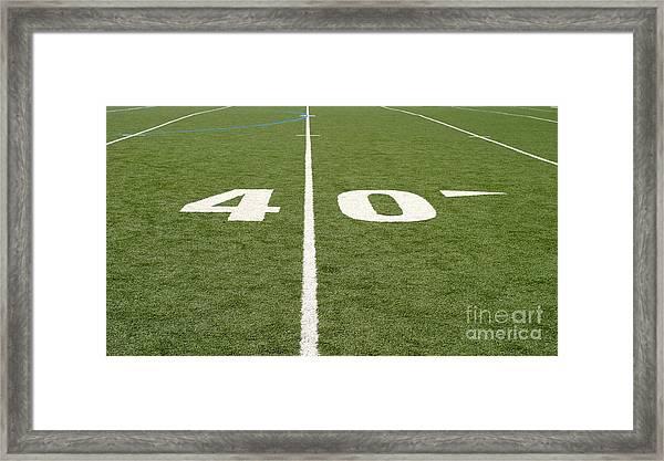 Football Field Forty Framed Print