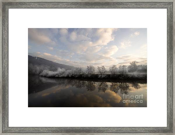 Frosty Evening Framed Print by Angel Ciesniarska