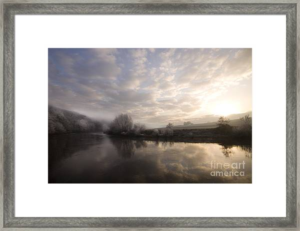Frosty Morning Framed Print by Angel Ciesniarska