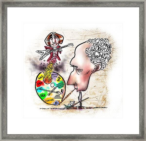 Happy Birthday Norman Rockwell Framed Print