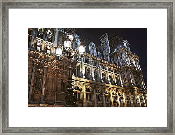 Hotel De Ville In Paris Framed Print