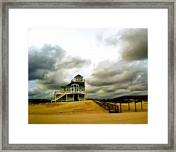 House At The End Of The Road Framed Print