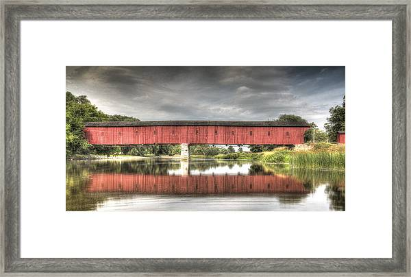 Kissing Bridge Montrose Ontario Canada Framed Print