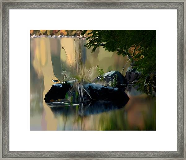Lake At Groton Vt Framed Print