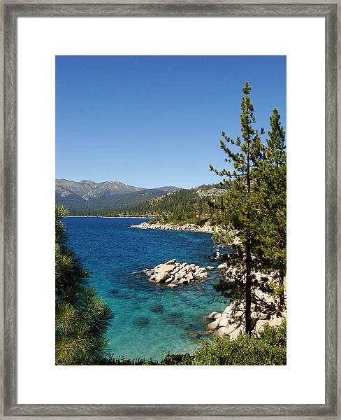 Lake Tahoe Shoreline Framed Print