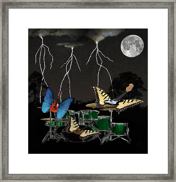 Framed Print featuring the digital art Lets Dance by Eric Kempson