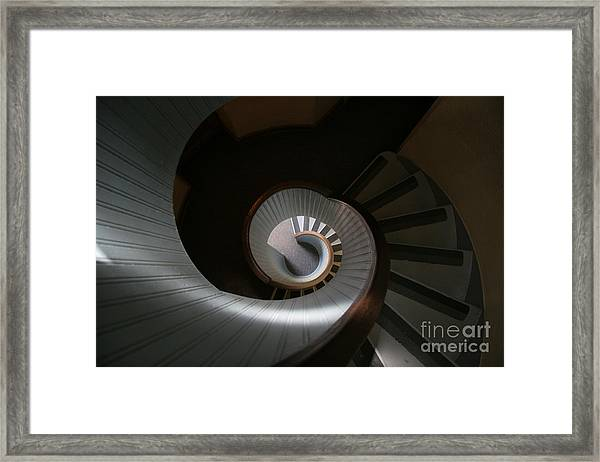 Lighthouse Stairs Framed Print