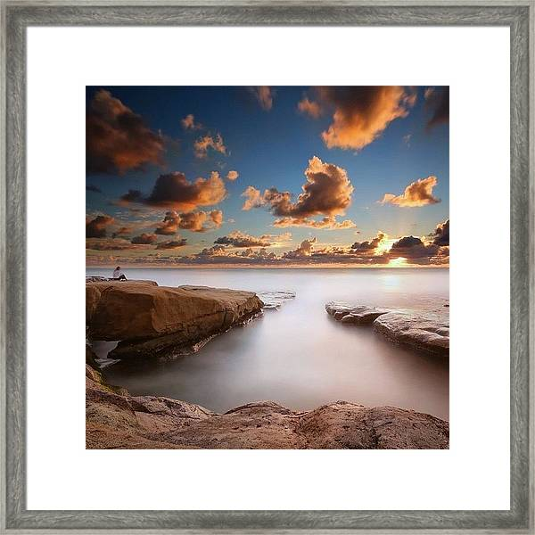 Long Exposure Sunset At A San Diego Framed Print