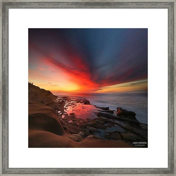 Long Exposure Sunset In La Jolla Framed Print