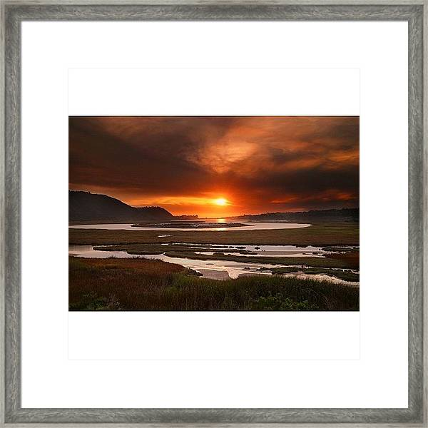 Long Exposure Sunset Looking Across The Framed Print