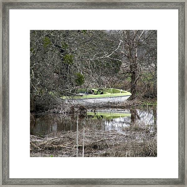 Lost Boat Framed Print