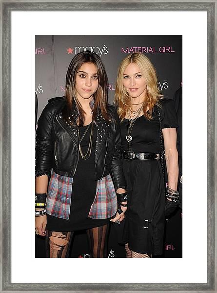 Lourdes Leon, Madonna At In-store Framed Print