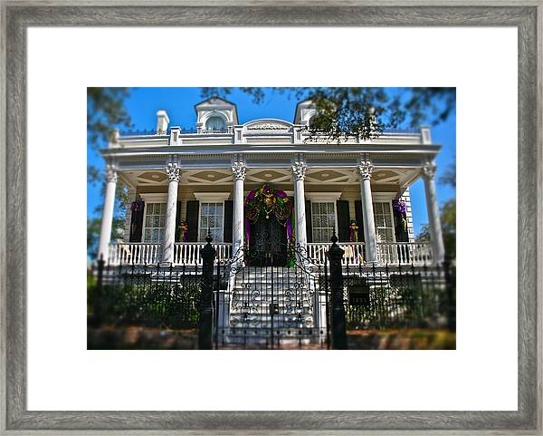 Mardi Gras House Framed Print