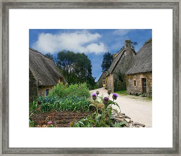 Medieval Village Framed Print