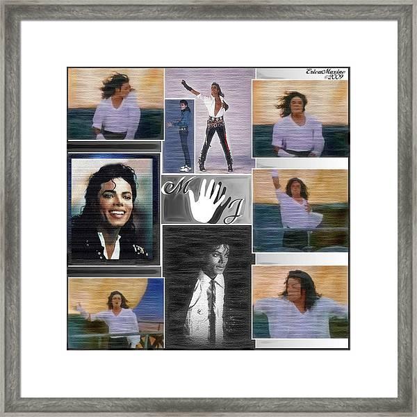 Framed Print featuring the digital art Michael Jackson by Ericamaxine Price