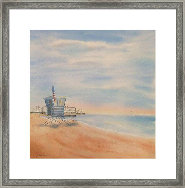 Morning By The Beach Framed Print